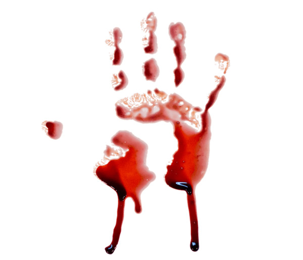 Blood Hand Photo PNG Image