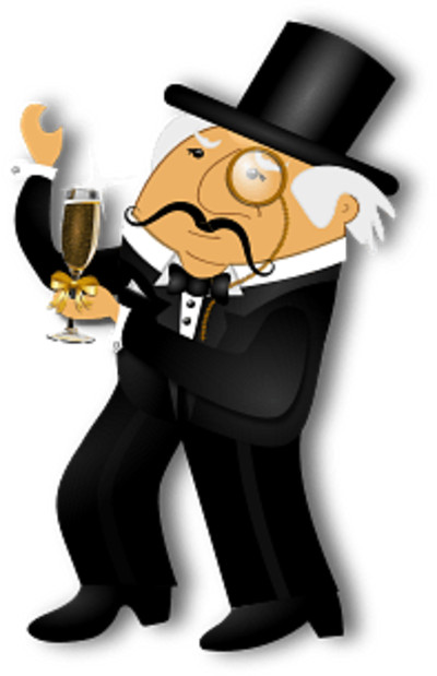 Gentleman with Glass of Champagne PNG Image