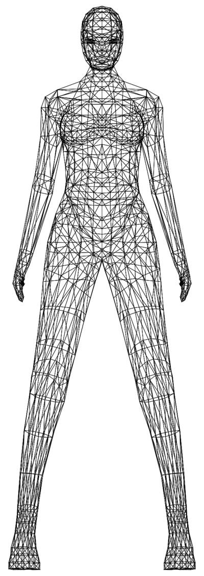 Modern Drawing of Female Body PNG Image