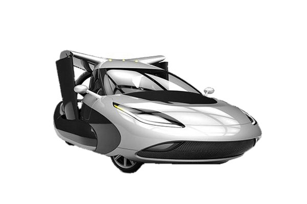 Terrafugia TF X Flying Car on the Ground PNG Image