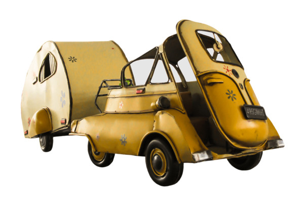 Vine Small Car With Camper PNG Image