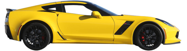 Yellow Corvette C7 Side View - Download on PNGPX