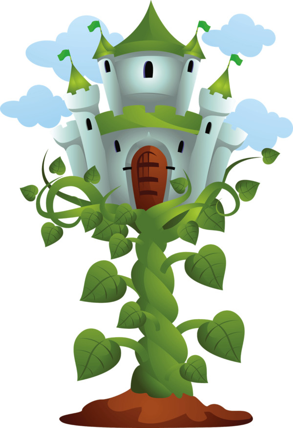Castle on Top Of Beanstalk PNG Image