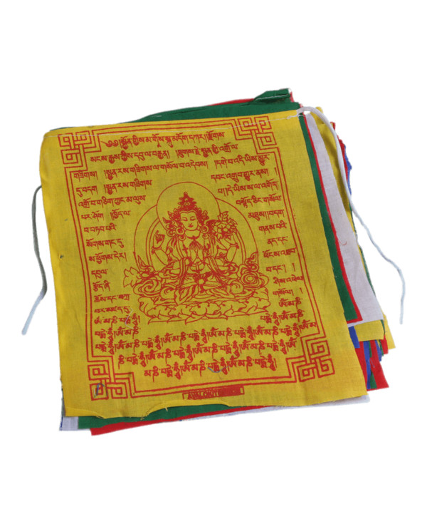 Buddhist Prayer Flags PNG Image