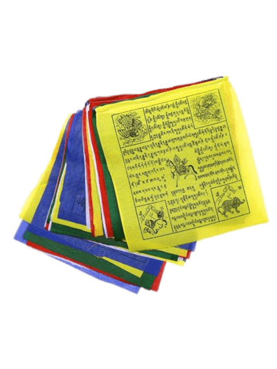 Collection Of Buddhist Prayer Flags PNG Image