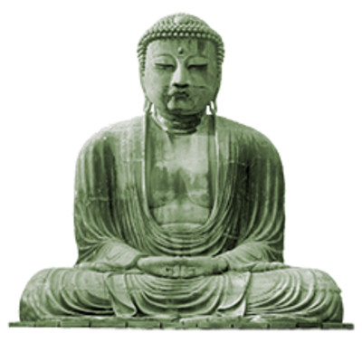 Buddhism Green Statue PNG Image