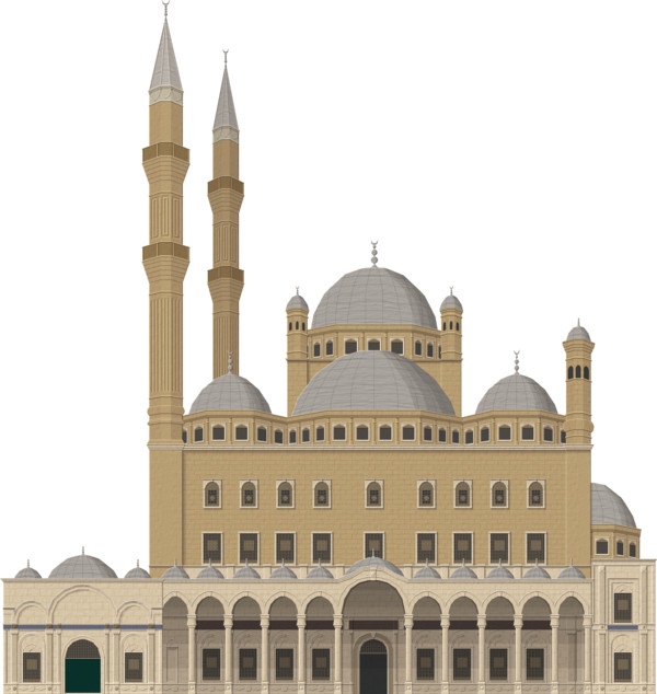 Colourful Mosque Islam PNG Image