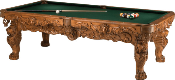 Very Ornate Billiard Table PNG Image