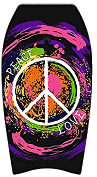 Bodyboard Wonderkids Peace and Love PNG Image