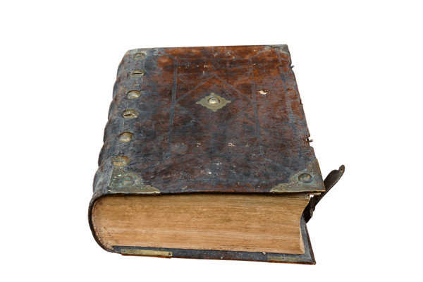 Old Book With Hard Cover PNG Image