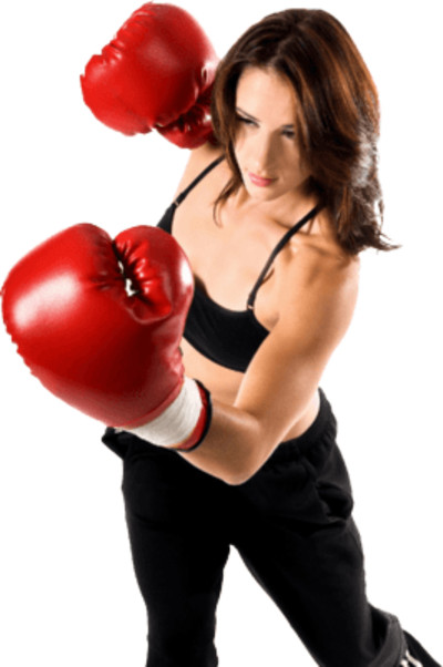 Boxing Lady PNG Image