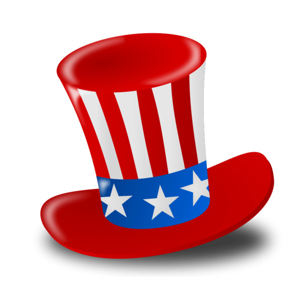 Happy Fourth Of July Hat PNG Image