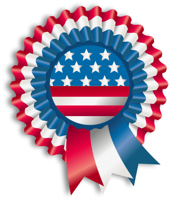 Happy Fourth Of July Ribbon PNG Image