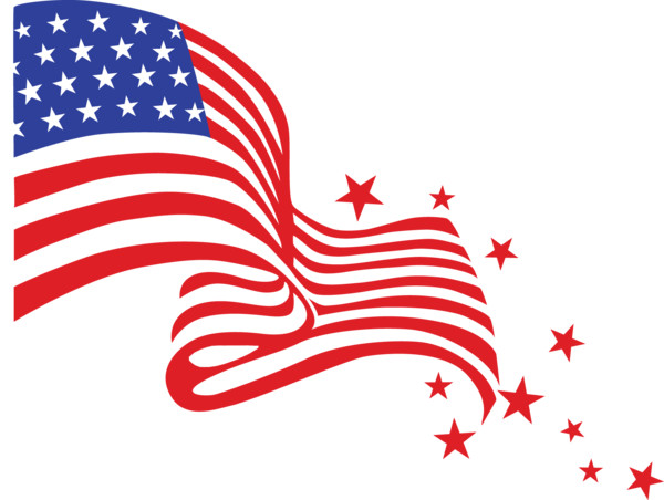 Happy Fourth Of July Flag PNG Image