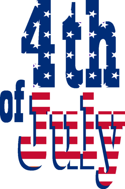 Happy Fourth Of July Text PNG Image