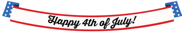 Happy Fourth Of July Long Banner PNG Image