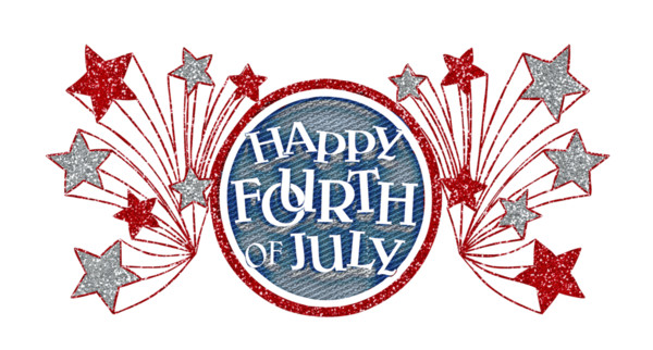 Happy Fourth Of July Glitter Banner PNG Image