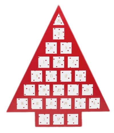 Red Tree Advent Calendar PNG Image