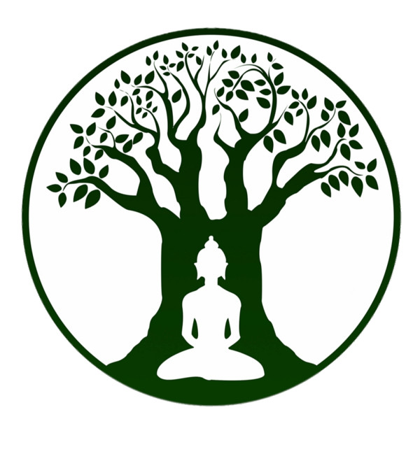 Bodhi Day Buddha Green Silhouette PNG Image