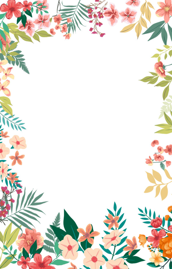 Flower Small Fresh Flowers Border Hand-Painted PNG Image