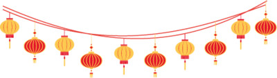 Chinese New Year Garland PNG Image