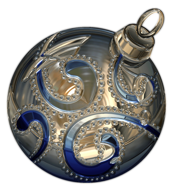 Christmas Bauble With Drawing PNG Image