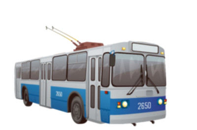 Trolleybus  PNG Image