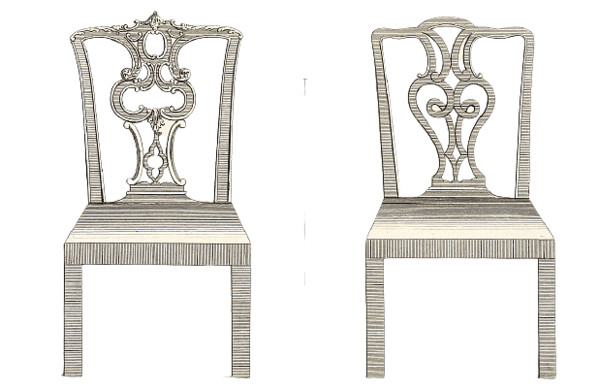 18th Century Pair Of Chairs PNG Image