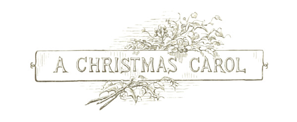 A Christmas Carol Title Retro Sign PNG Image