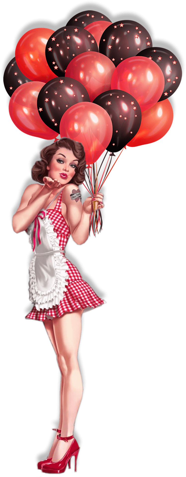 Pin Up  Balloons Vine Illustration - Download on PNGPX