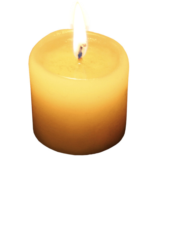 Single Small Candle PNG Image