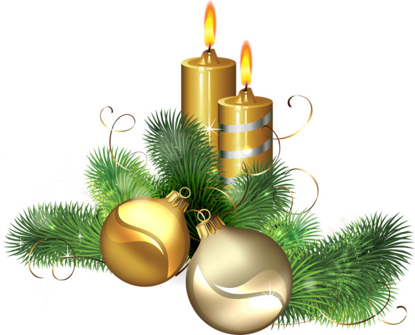 Candle Gold PNG Image