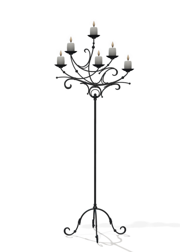 Candles on Stand PNG Image