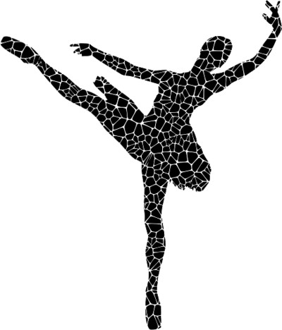 Silhouette of a Performing Ballerina PNG Image