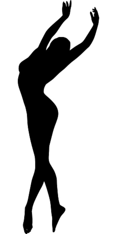 Silhouette of a Dancing Ballerina PNG Image