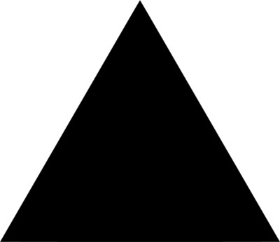 Full Black Triangle PNG Image