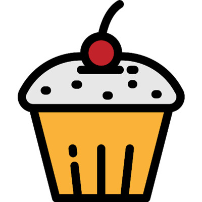 Muffin  Cherry On Top Icon PNG Image