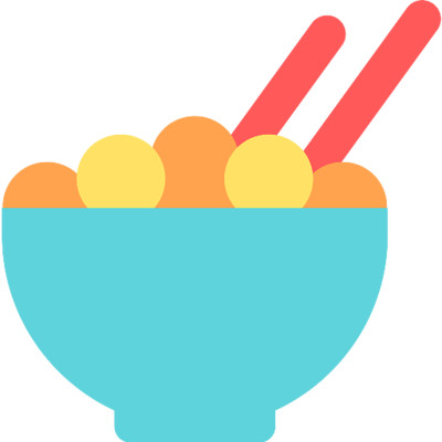 Asian Food Dish Icon PNG Image
