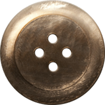 Button Clothes Gold PNG Image
