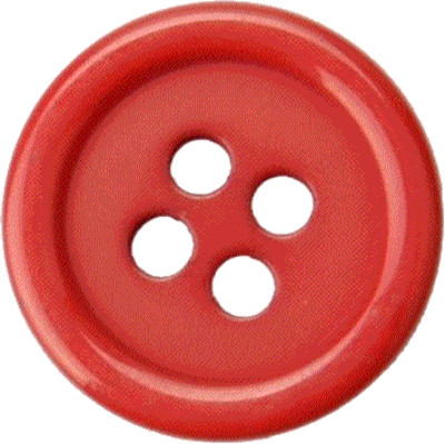 Button Clothes Red PNG Image