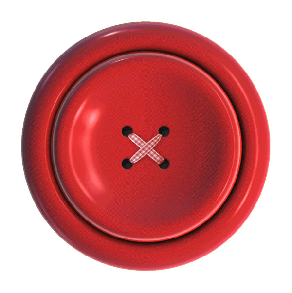 Button Clothes Red Small PNG Image