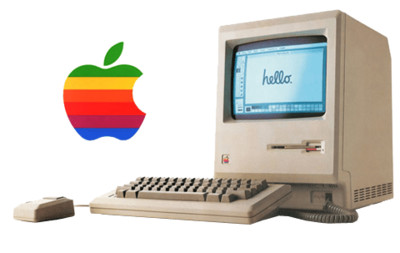 Vine Apple Computer With Logo PNG Image