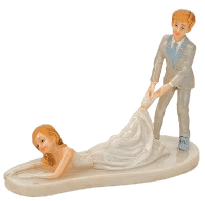 Funny Wedding Figurines PNG Image
