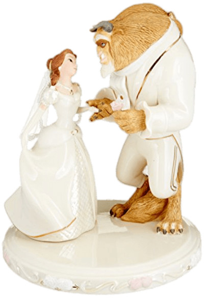 Beauty and the Beast Wedding Figurines PNG Image