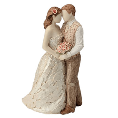 Couple In Love Wedding Figurines PNG Image