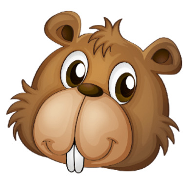 Beaver Face PNG Image