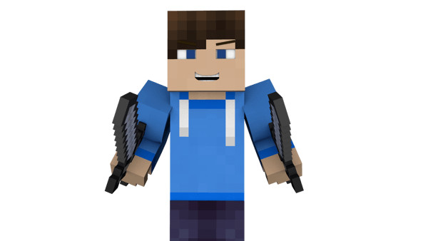 Man Two Swords Minecraft - Download on PNGPX