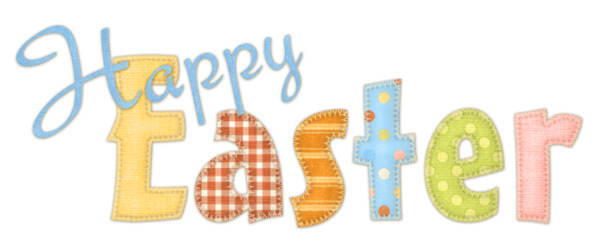 Happy Easter Fabric Sign PNG Image