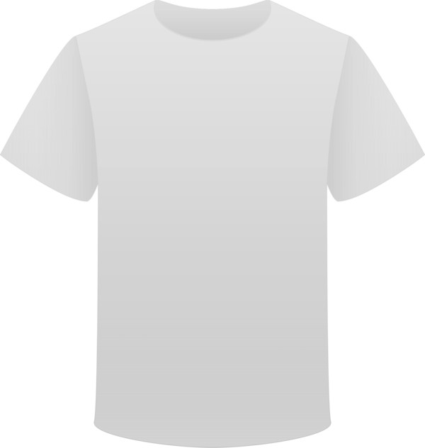 Tshirt White Clipart PNG Image