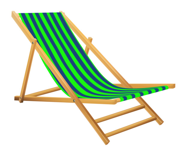 Green Beach Lounge Chair PNG Image